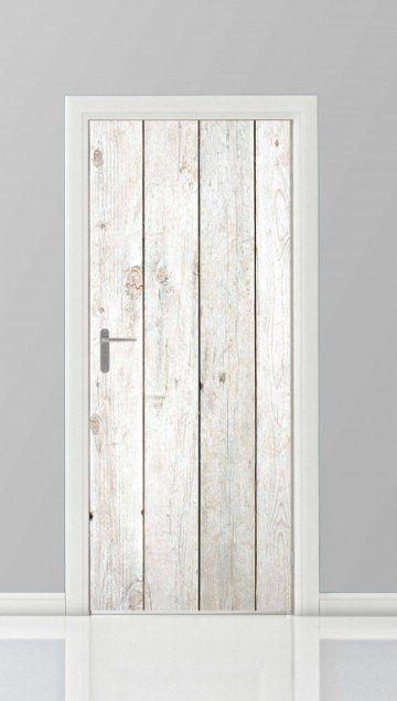 Mooie deurstickers in de vorm van planken, voor op de deur van de meterkast