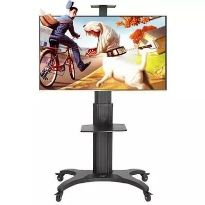 NB AVF1500-50-1P Aluminum Alloy 32~65 inch Moveable TV Trolley Flat Panel LED LCD Plasma TV Cart with AV shelf and Camera Holder
