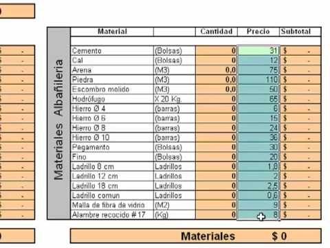Calculo de Materiales de Albañilería  #Arquitecto Martín Bonari - YouTube