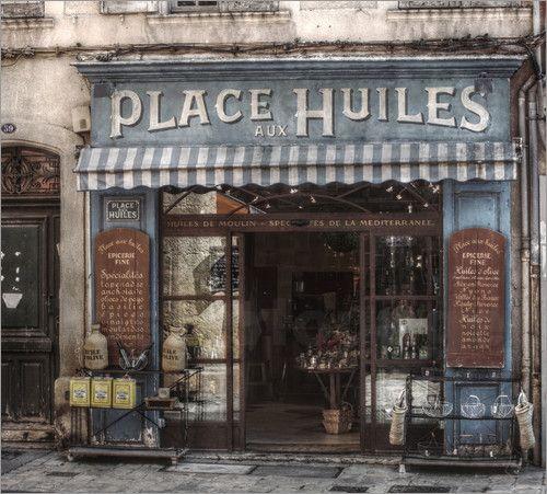 Provence / Cote d´Azur / France Shop for olive-oils in Aix-en-Provence HDR