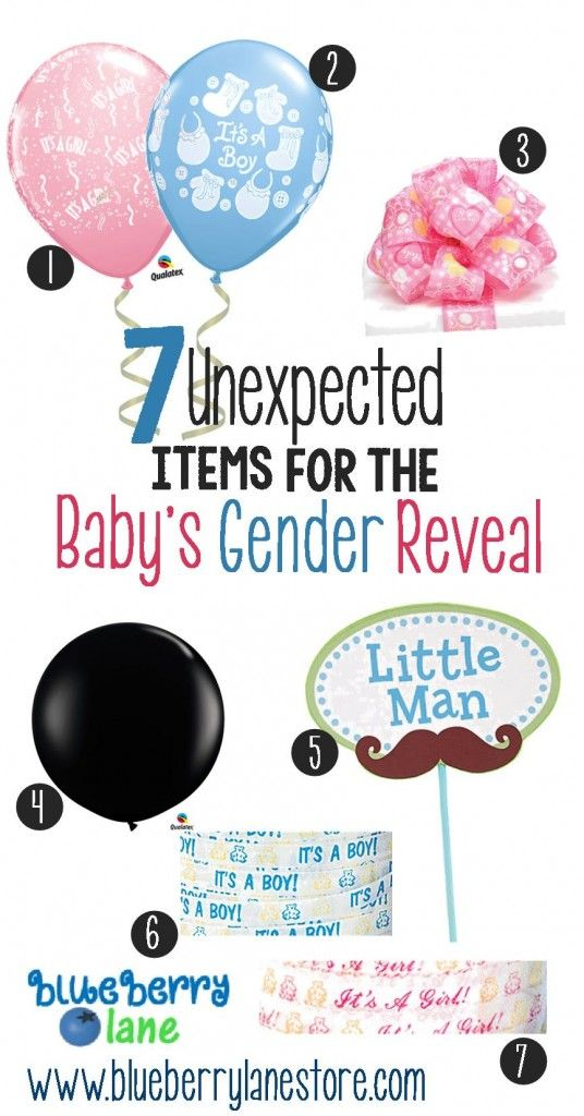 Check out the 7 unexpected items for the baby's gender reveal ...