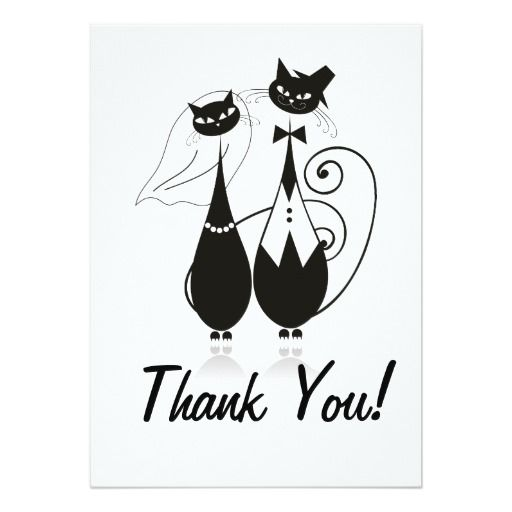 Wedding Cats Thank You Card