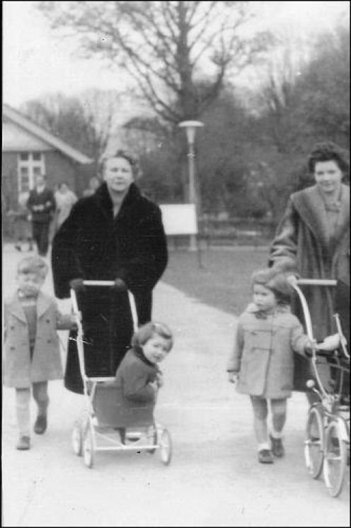 Photograph of my Mother and Grandmother in The Phoenix Park, Dublin, Ireland walking with the children in 1964. A great free fun day out for all the family.