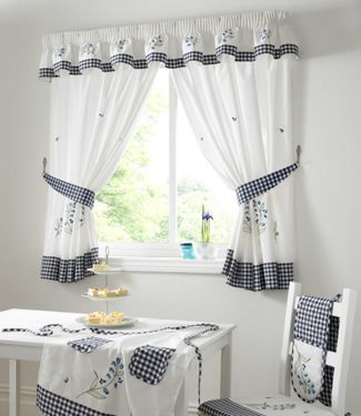 Gingham curtains?