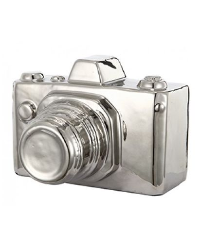 NEW in - This silver ceramic camera is part of a stunning set as a gift or for the nostalgic. Use our gold and silver ceramic set as ornaments in your home or simply as a decorative paperweight. They are a simple, elegant and effortless piece.