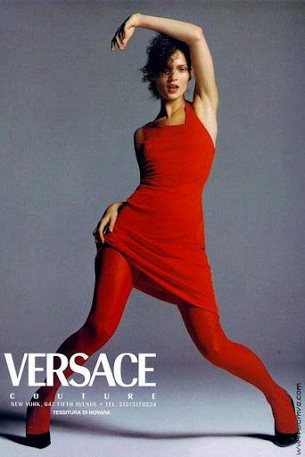 Kate Moss  by Richard Avedon for VERSACE 1996.