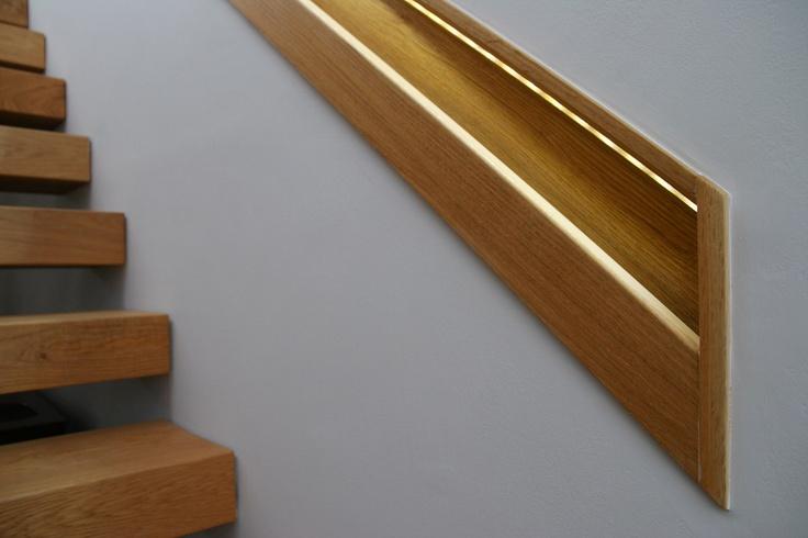 Best Recessed Oak Handrail Oak Handrail Stairs Staircase 640 x 480