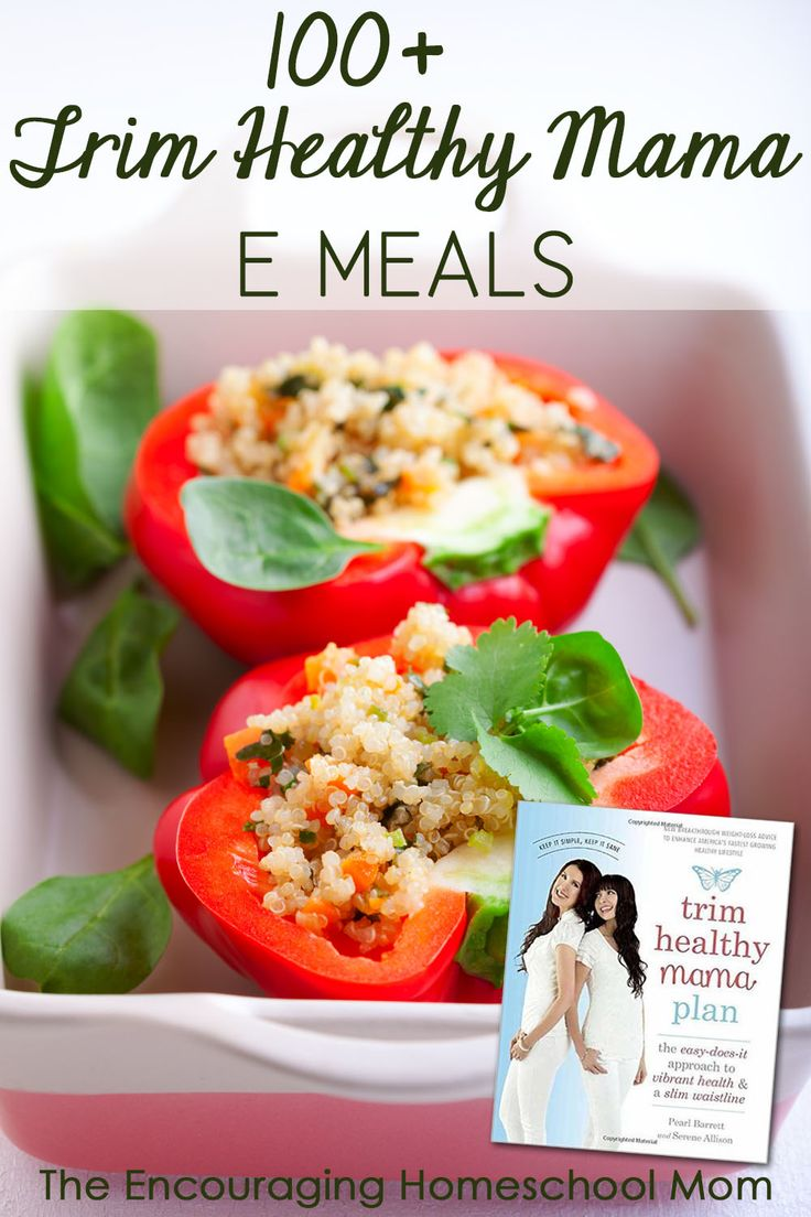 100+ Trim Healthy Mama E Meals – Medium Carbs and Low Fat! Find some new-to-you Trim Healthy Mama E Meals! Breakfast, lunch, dinner, snacks, sides, smoothies, and more!