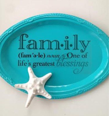 Homemade Dollar Tree Plaque - Perfect gift for Mother's Day or Grandparents gift.