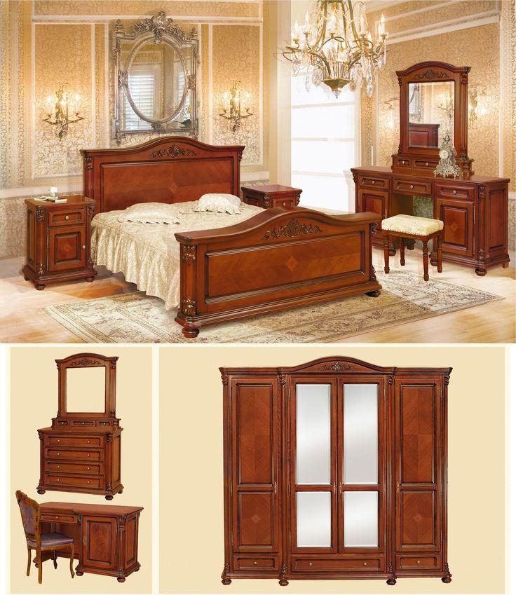 Mobila / Mobilier Dormitor clasic lemn masiv cu intarsie Premier 1