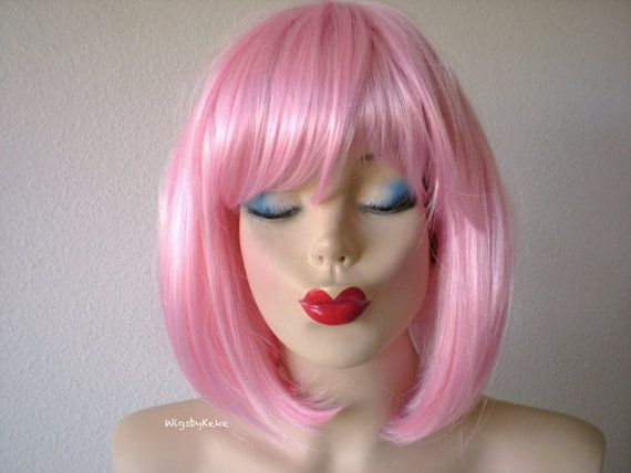 Pink wig. Pink bob hair wig. Short pink wig. Durable by kekeshop