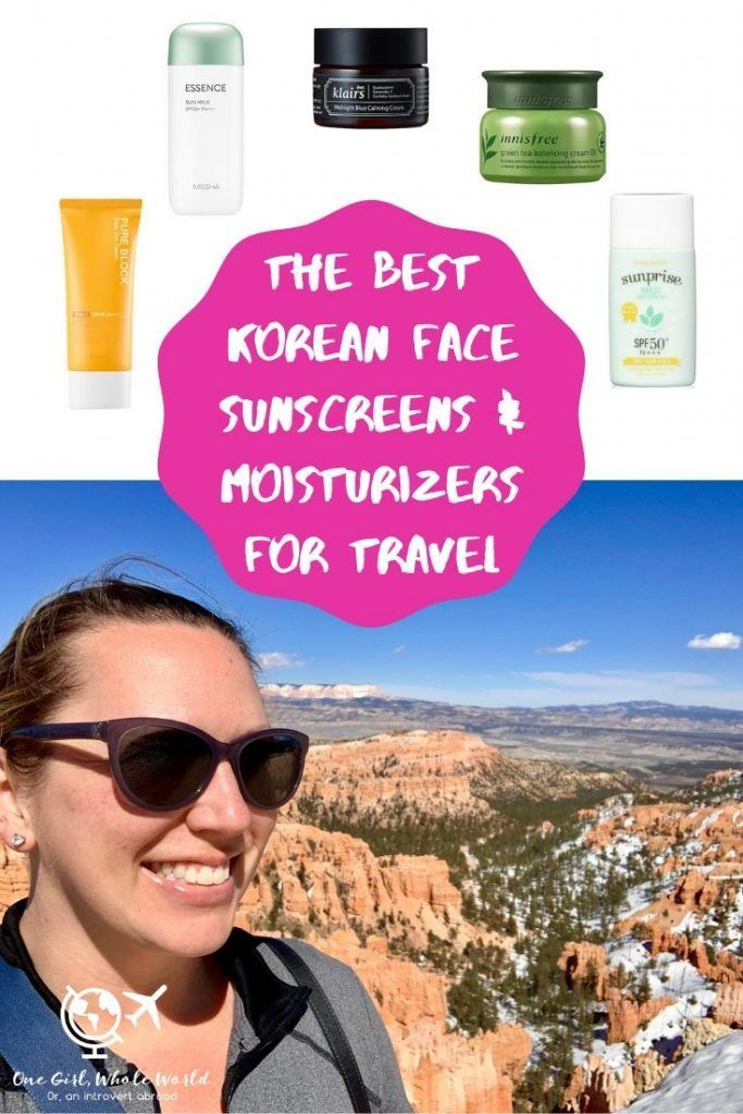 Best Korean Sunscreens & Moisturizers For Travel