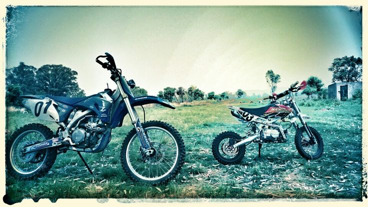 Father and Son.... We love riding our bikes