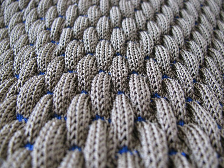 3D Textiles - contemporary knitwear design detail with pattern repetition, texture & contrasting stitch // Noa Weil Raviv