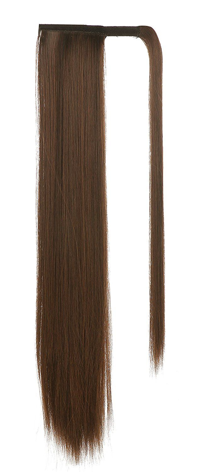 SARLA Women's 1Pc Straight Long Ponytail Hair Extensions Heat-Resisting Synthetic Ponytails Pony Tail Clip Hair Piece (4/30 Reddish Brown) *** This is an Amazon Affiliate link. See this great product.