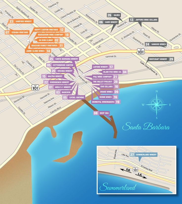 Winery & Tasting Room Map - Santa Barbara Urban Wine Trail