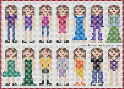 Anne's Handspun: Cross Stitch People: Clothes 1