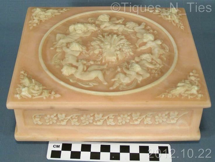 Vintage Incolay Stone Cameo Jewelry Music Box Reuge Swiss