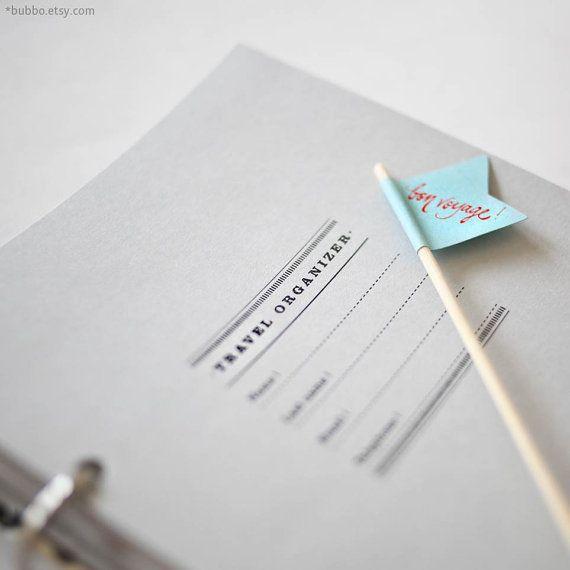 Half-letter TRAVEL PRINTABLE organizer / trip planner 50 by bubbo
