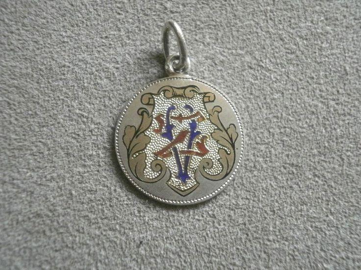 Anhänger Silber 800 mit buntem Email Initialien Kaiser Franz Joseph | eBay, sold for EUR 13,49