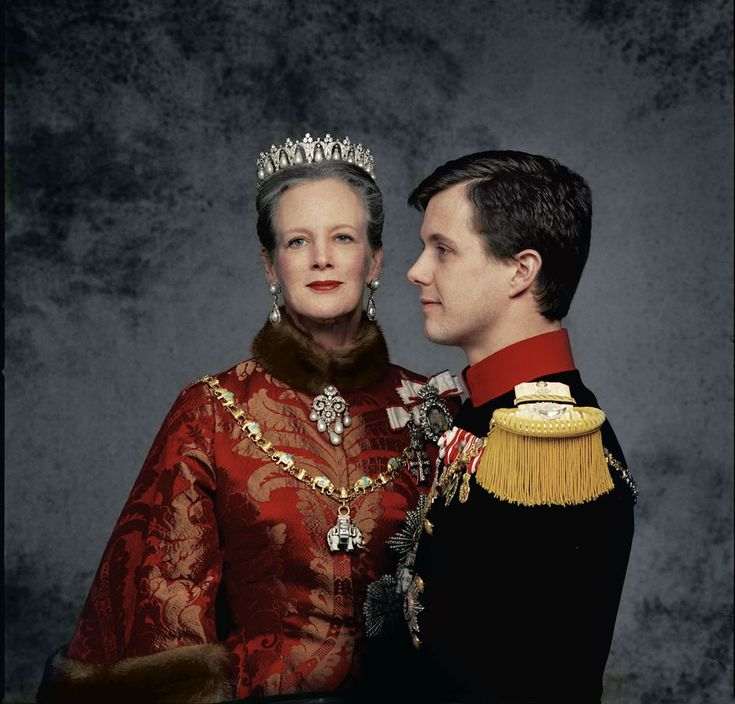 Queen Margrethe with Crown Prince Fredrik in 1997