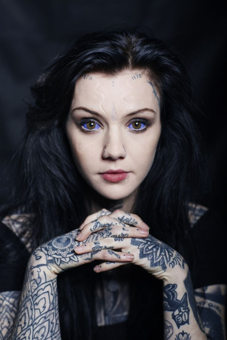 Ms. Grace Neutral: queen of body modification.  I doubt I would ever tattoo my eyes but she looks lovely
