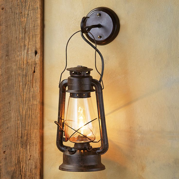 Large Rustic Lantern Wall Sconce  up in the kids loft-  add 5.  4 at beds and 1 at loft