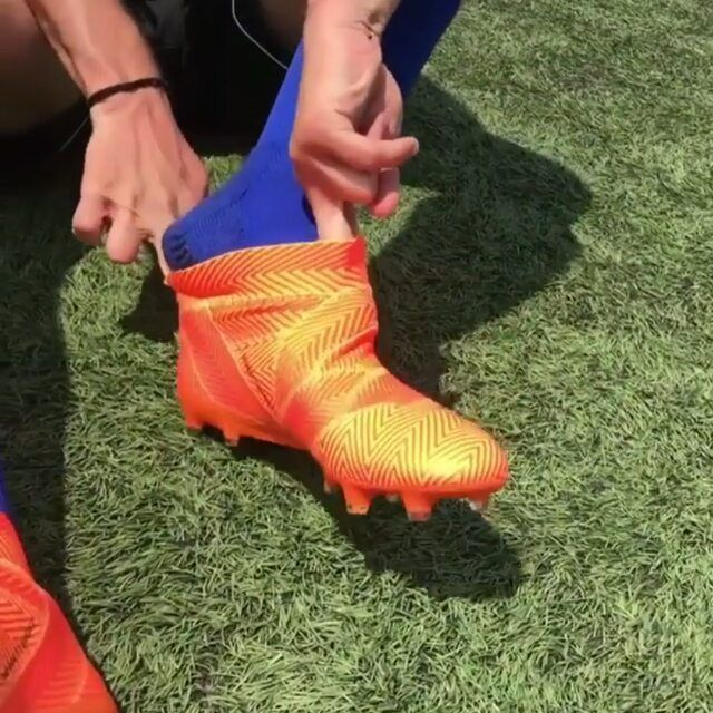 7b8b960e597  football nerds trying on the latest Energy Mode World Cup Pack Nemeziz 18!  In my opinion these look really sweet. Comment an orange emoji if you w…
