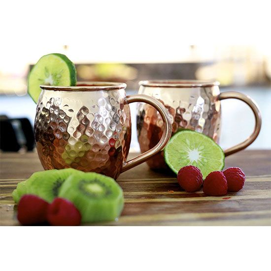 The best part of a moscow mule is the mug it is served in! Check out these fun copper cups that you can serve delicious cocktails in.