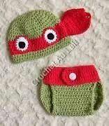 Teenage Mutant Ninja Turtles baby hat and diaper cover
