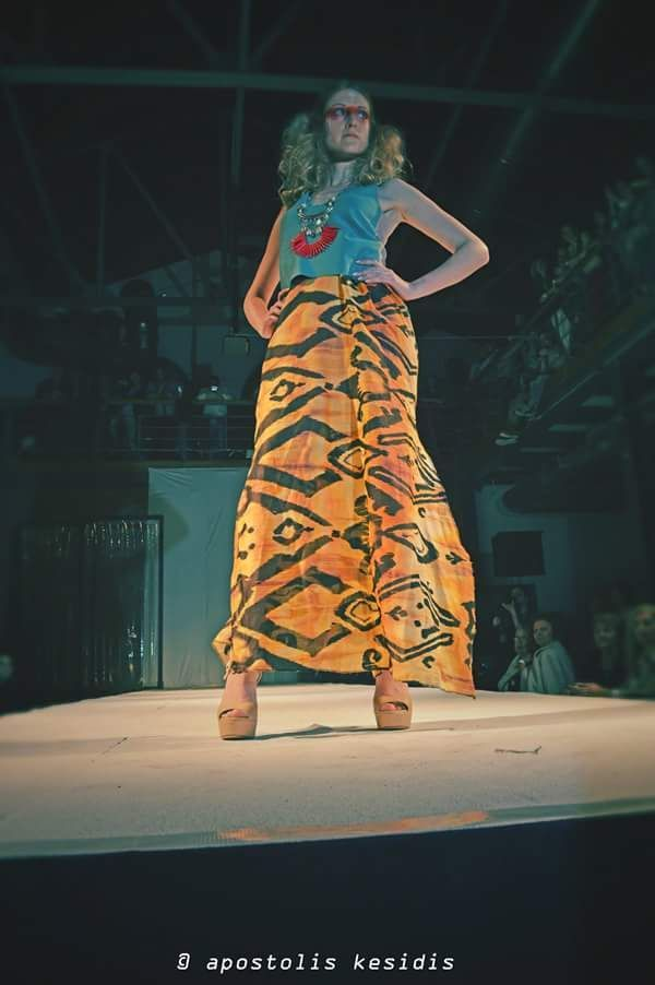 African style skirt in multiple colours. ΚΩΔ. 1001