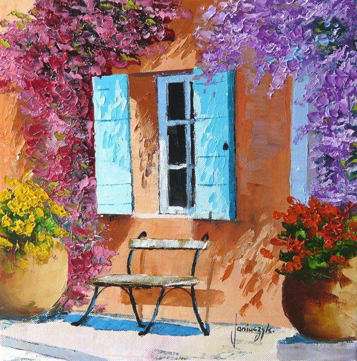 Jean Marc Janiaczyk Art Painting Sunny Shutters By Jean