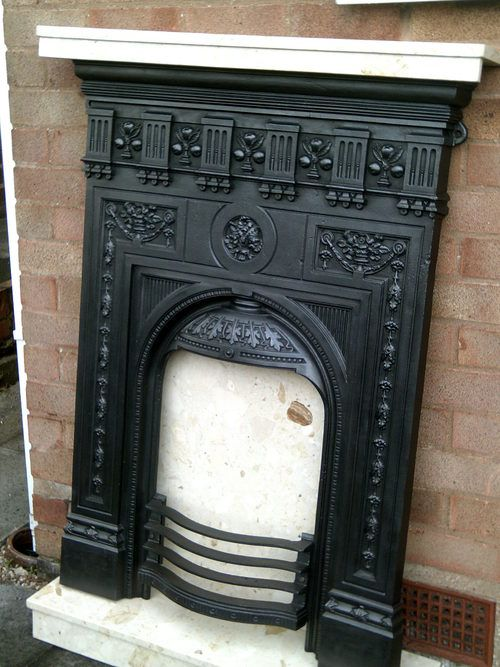 Antiques Atlas - Cast Iron Victorian Fireplace