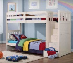 Buy Neutron Bunk Bed With Stair Storage - White from our Bunk Beds range - Tesco.com £899