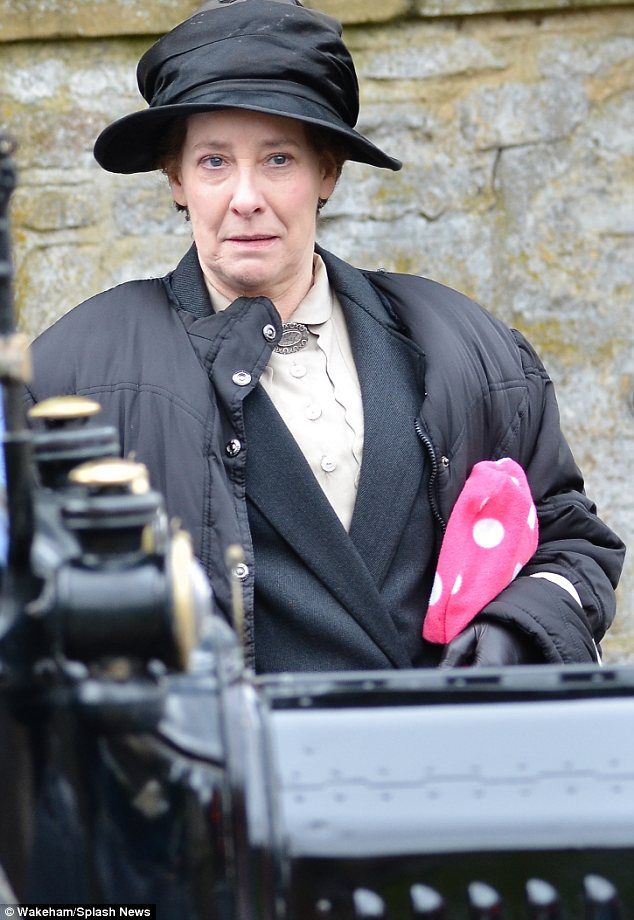 'Naughty' Lady Rose MacClare posts some letters on the set of Downton Abbey