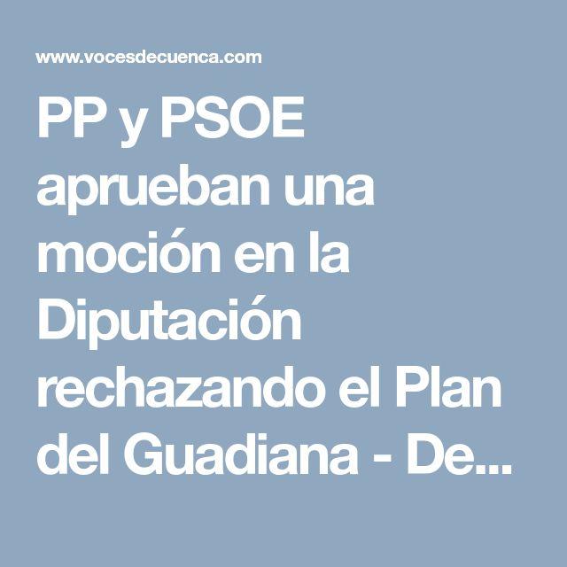 PP y PSOE aprueban una moción en la Diputación rechazando el Plan del Guadiana - Detalles - Voces de Cuenca