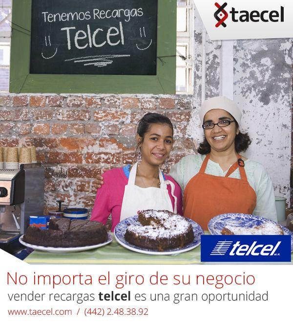 #Taecel #Telcel #negocio #PyMes #Pastelería #celulares #recargas #tiempoaire