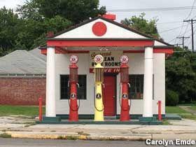 Restored Marathon gas station. Miami, OK
