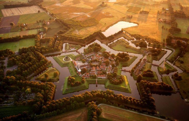 The star fort at Bourtange, Netherlands Amos