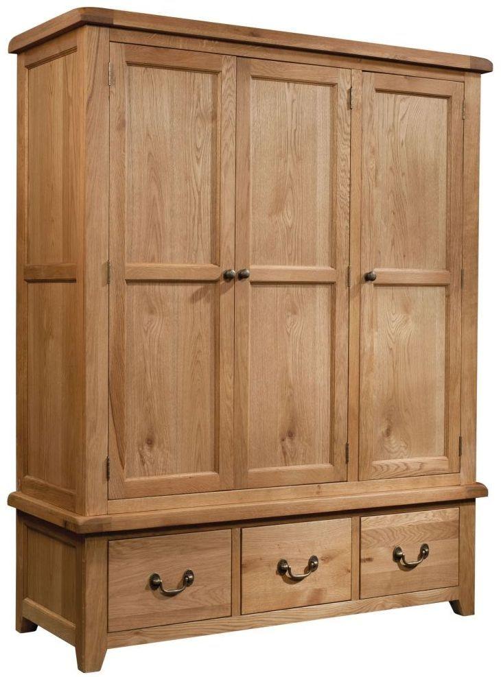 Devonshire Dorset Oak 2 Door 2 Drawer Wardrobe In 2020 Wooden Wardrobe Oak Wardrobe Grey Wood Furniture