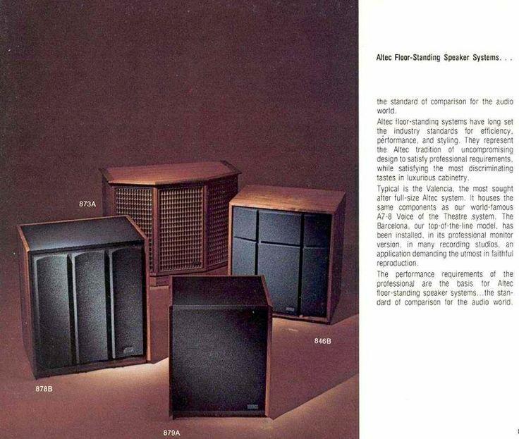 Various Altec floor standing speakers