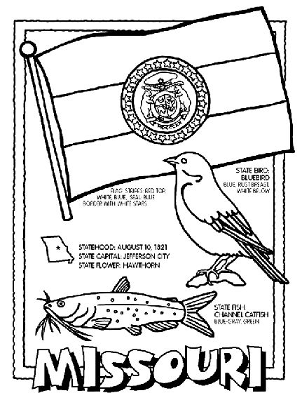 Arkansas symbols coloring pages coloring pages for Kansas state symbols coloring pages