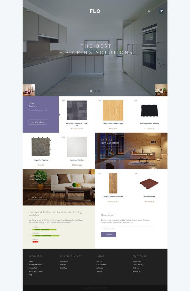 Flooring Materials OpenCart Template Templatemonster Opencart