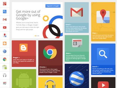 Google+ Grid by UENO.
