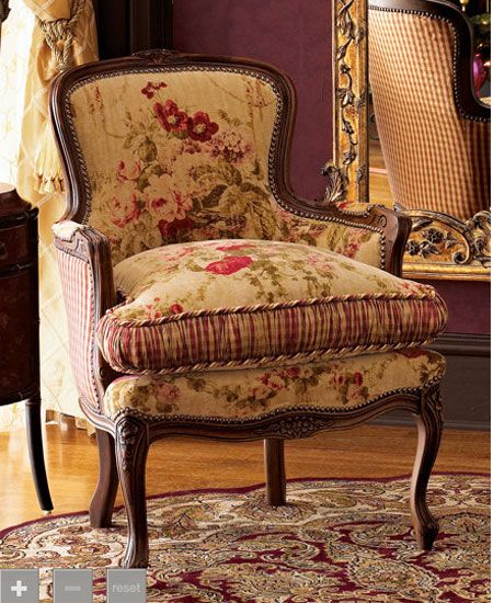 Lovely Fabric Combination Home Decor French Country Chairs Bergere Chair French Country House
