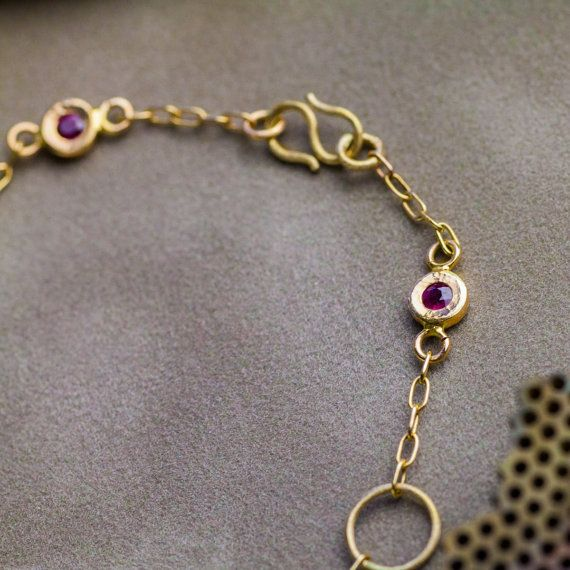 Natural Transparent Ruby Pedant in 14K Yellow by ZEHAVAJEWELRY
