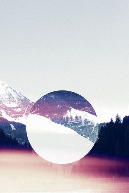 I think this image is great! It is so simple but so interesting at the same time. Without the middle circle, the image would just be a mountain but with the circle it makes it so much more. I don't know if it is just a random part of the mountain but it makes it look like it is magnified to see the mountain up close.