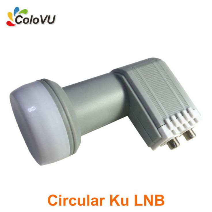 Circular Ku Band Twin LNB High Gain best Quality with Waterproof HD Digital Satellite Dual Output LNBF hot selling