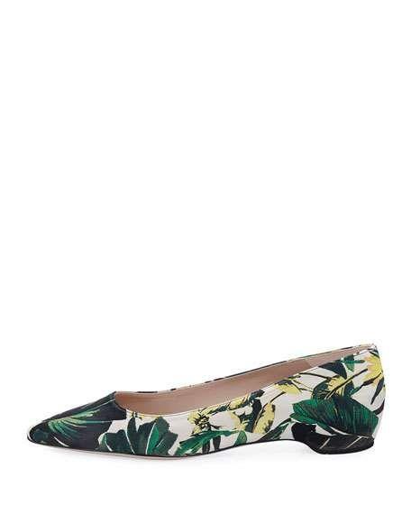 4ba5be6cf Julie Botanical Jacquard Flat Skimmer Stuart Weitzman, Neiman Marcus,  Fashion Shoes