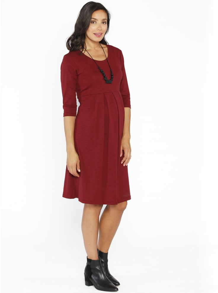 Half Sleeve Little Cotton Dress in Earth Red, $59.95, looks gorgeous teamed with some ankle boots for the cooler months.